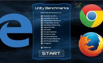 Benchmarking Unity performance in WebGL Edge vs Chrome vs