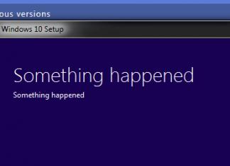 Windows  something happened error message