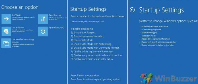 Windows  advanced startup options winbuzzer featured
