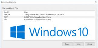 windows  environment variables new style windows  logo