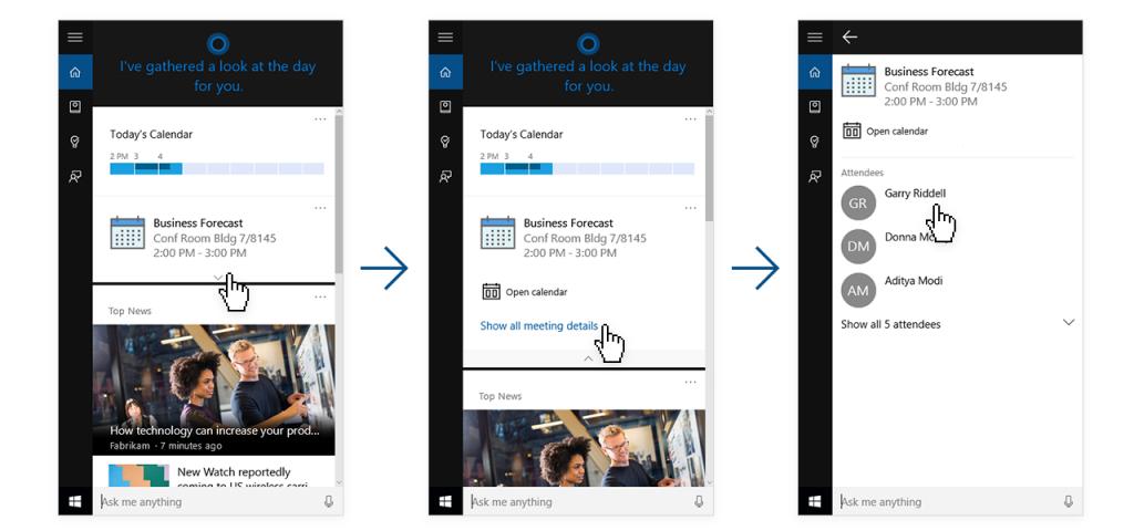 Cortana Linkedin connection official Microsoft2