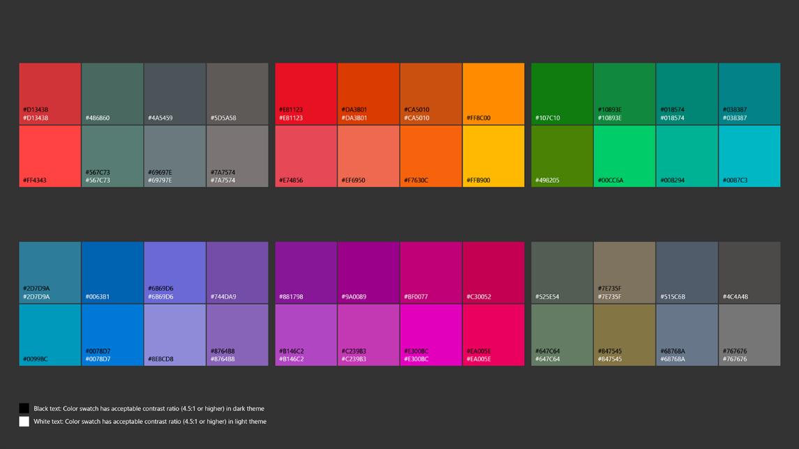 UWP-App-Design-colors-Official Microsoft