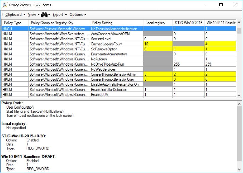 Grou Policy Analyzer Microsoft official