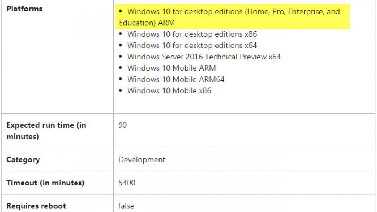 Rumor: Microsoft working on ARM based version of Windows 10 - WinBuzzer