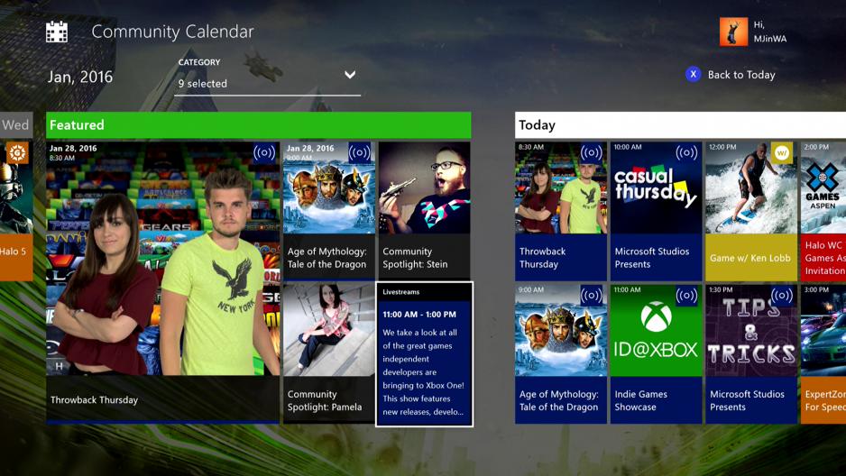 Xbox Community Calendar app official Microsoft