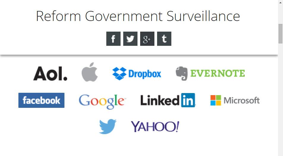 reform government surveillance group website screenshot