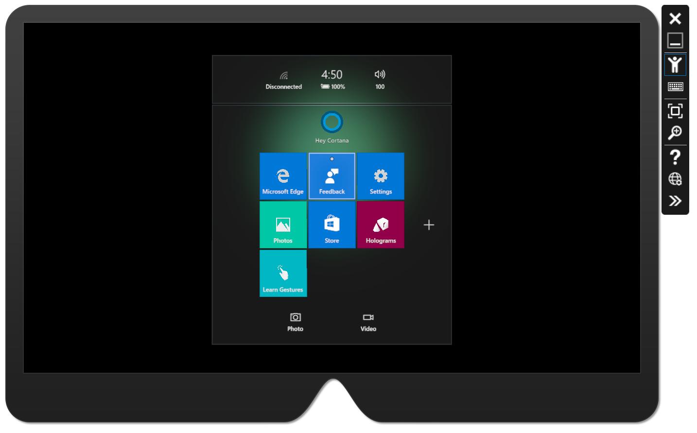 Microsoft HoloLens emulator official 2