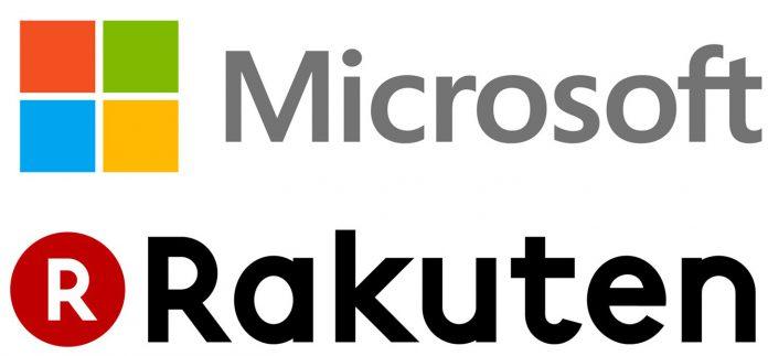 Microsoft Rakuten logos e