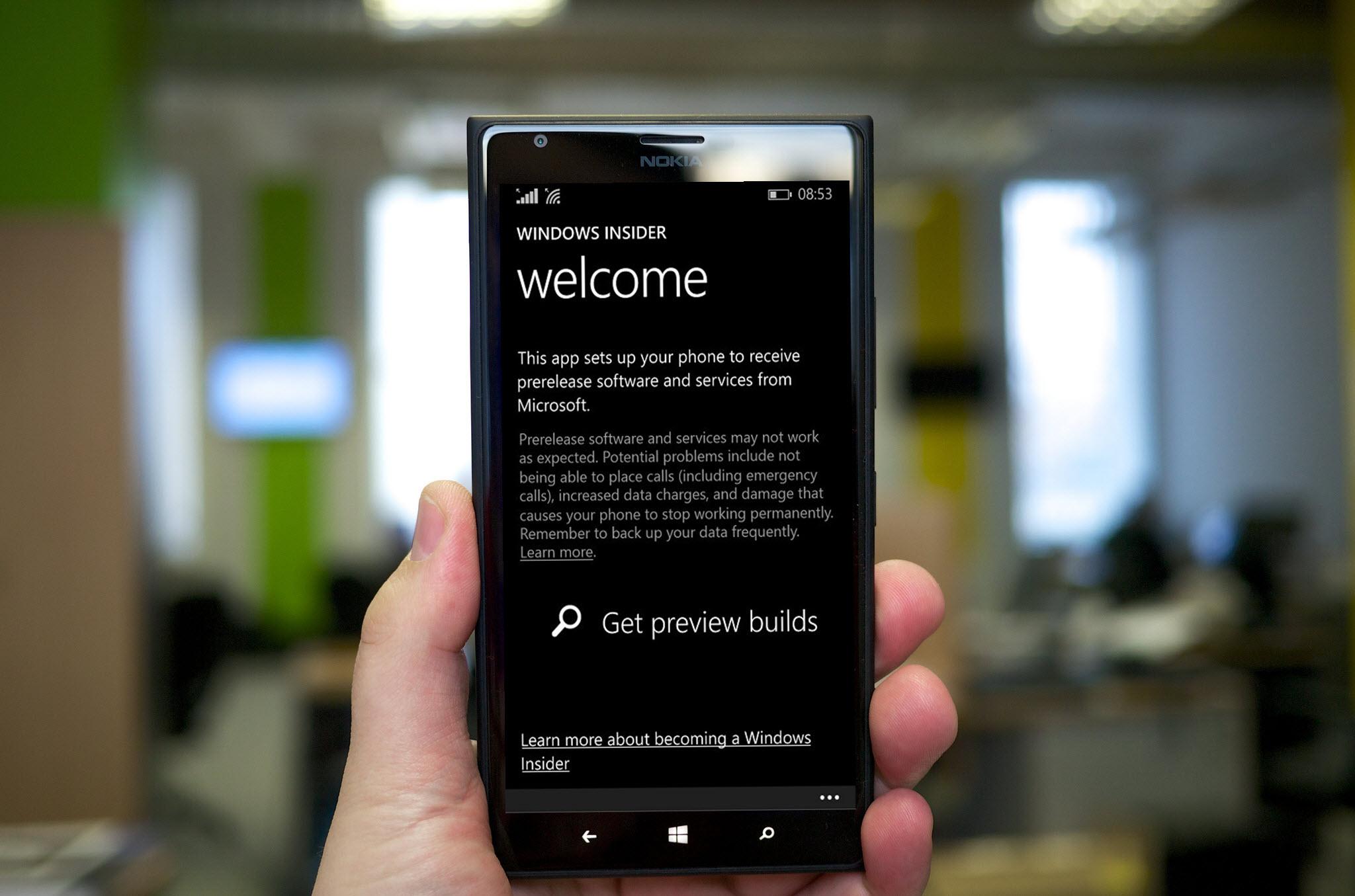 Windows Insider app own