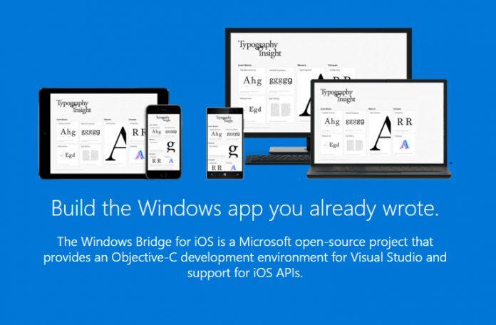 iOS to Windows  App bridge official website