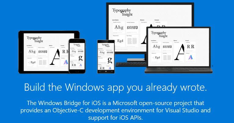 iOS to Windows 10 App bridge official website2