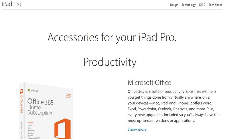 iPad Pro Office 365