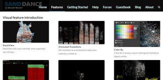 sanddance microsoft garage website shot
