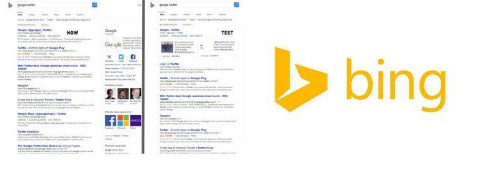Bing Twitter All Google