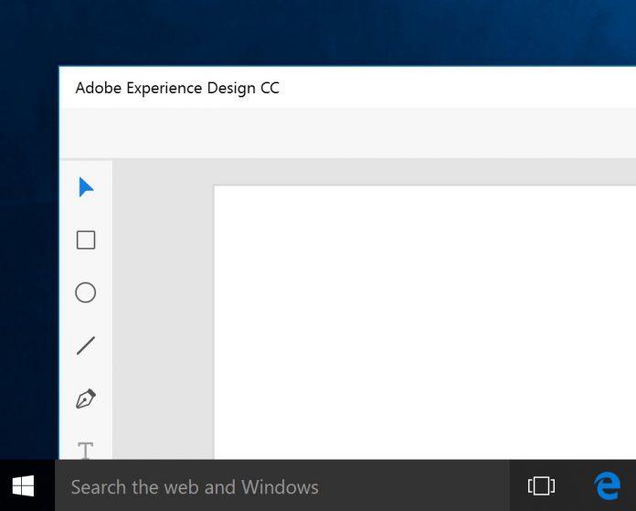 Adobe Experience Design CC Twitter