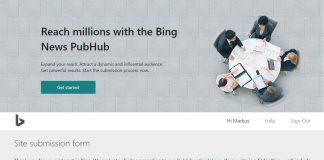 Bing News PubHub logo own collage