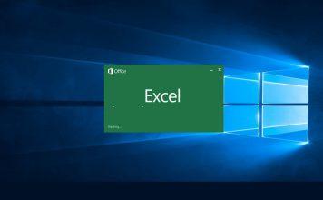 Excel Startup Windows Screenshot