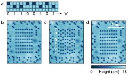 A kilobyte rewritable atomic memory
