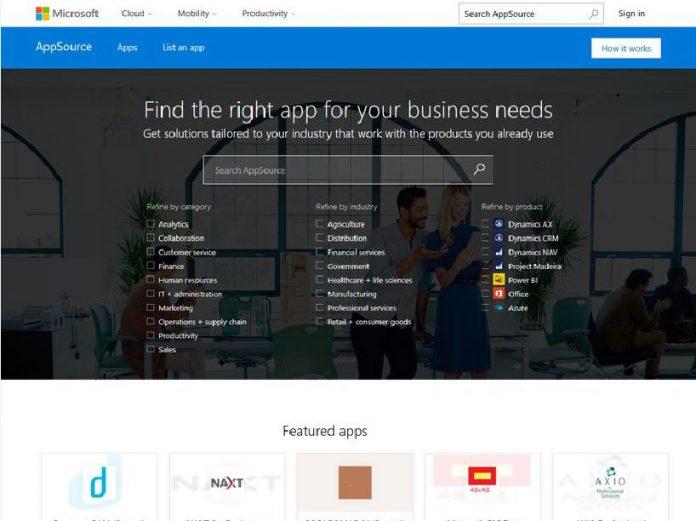 AppSource Website Microsoft