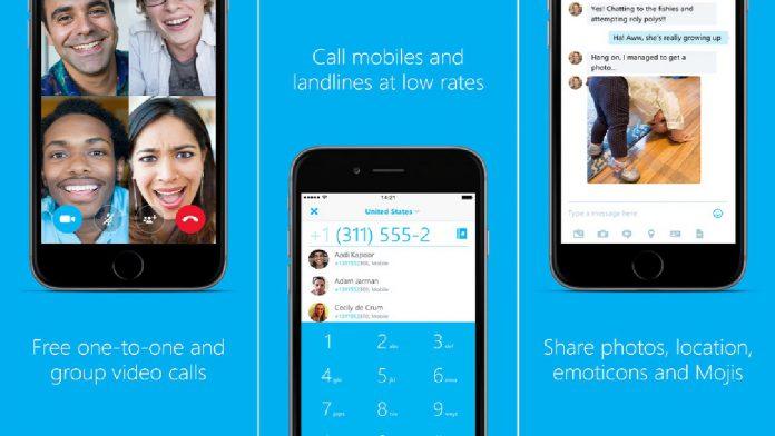 Skype Screenshots Collage Apple iTunes