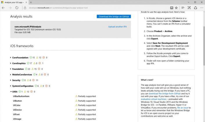 iOS App Analysis Tool Windows Blogs