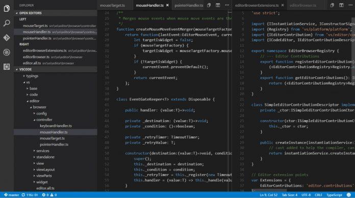 visual studio code tabs visual studio update