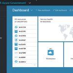 Azure Government Portal Dashboard