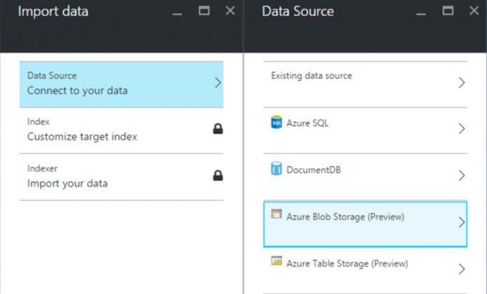 Azure Search Blob Data Import Microsoft