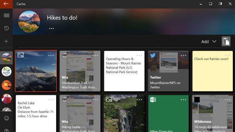 Cache Screenshot Microsoft