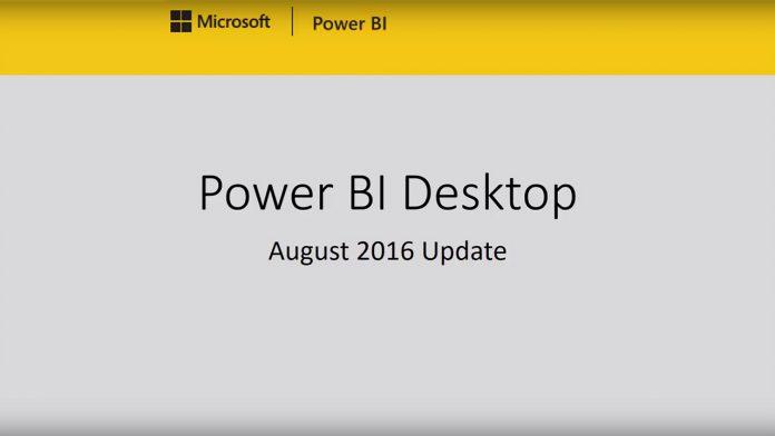 Power BI August Update YouTube Screenshot