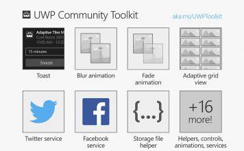 UWP Community Toolkit Features Microsoft