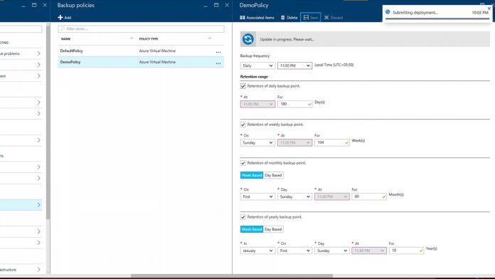 Azure Backup Policy Management Microsoft