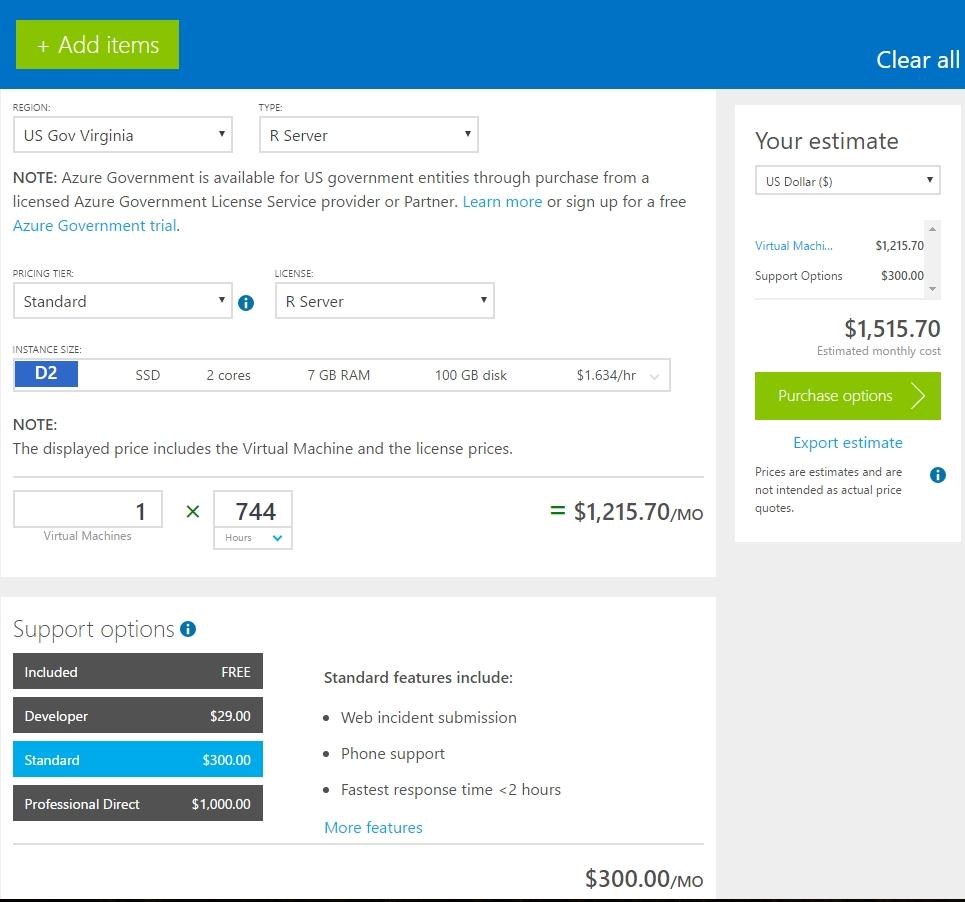 microsoft releases pricing calculator for azure government winbuzzer
