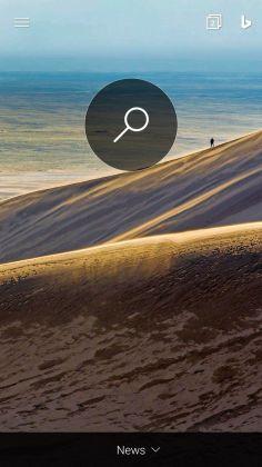 Bing Search Homepage  Screenshot Own