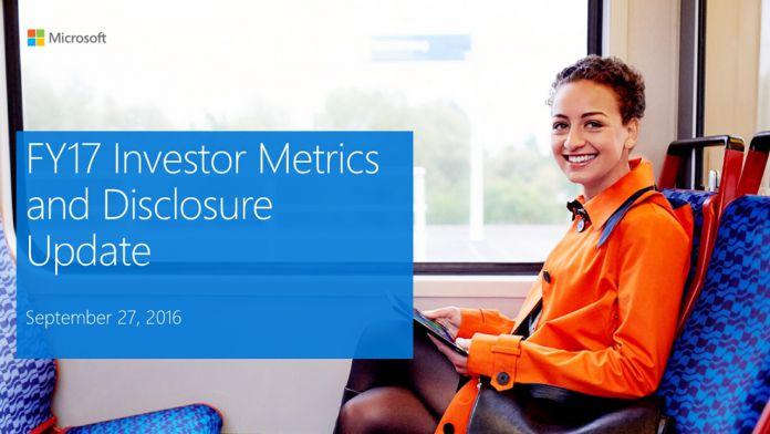 Microsoft Investor Metrics