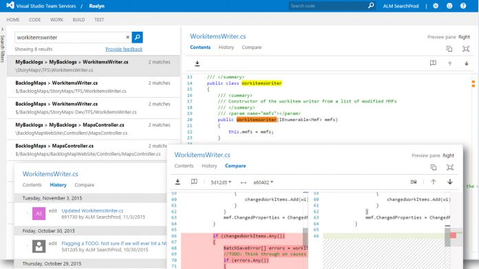 Code Search Visual Studio Team Services Microsoft