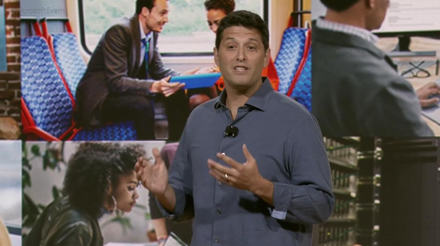Terry Myerson announcing Windows 10 Creators Update last week