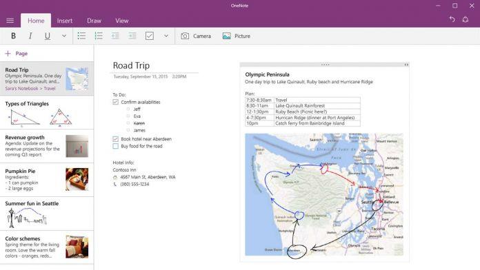 OneNote Windows Store Microsoft