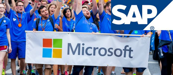 Microsoft Employees SAP Logo Official Collage Own