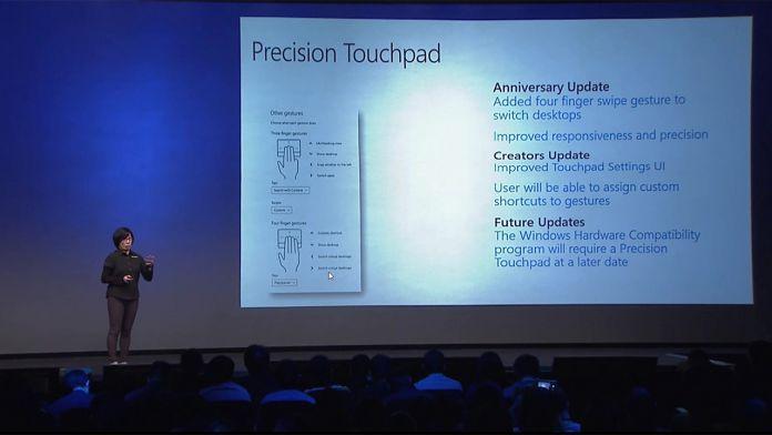 precision touchpad WinHEC screenshot