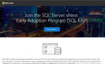 Microsoft announces SQL Server vNext EAP