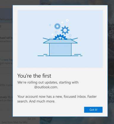 Outlook Focused Inbox feature screenshot 2