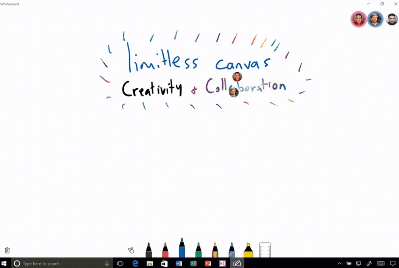 Microsoft Whiteboard Leaks, Revealing Impressive New Windows 10 Stylus Features