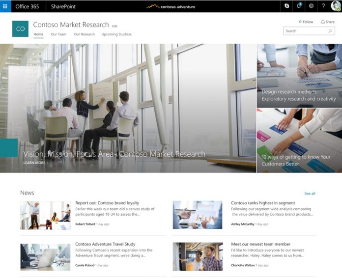 Microsoft Brings SharePoint Communication Sites to Office 365 Customers - WinBuzzer
