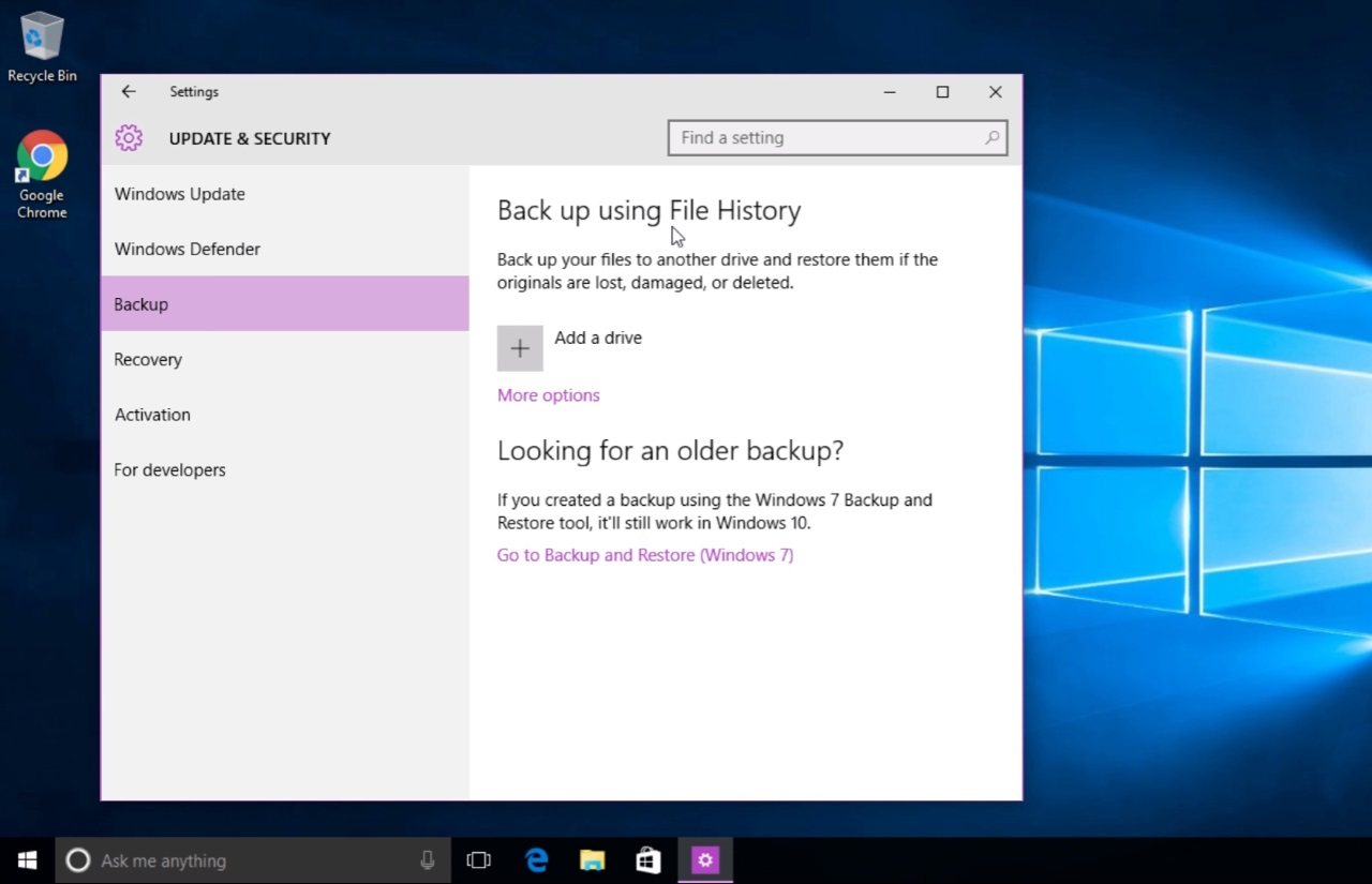 Windows 10s file history backup makes a return in latest insider windows 10s file history backup makes a return in latest insider update winbuzzer ccuart Image collections