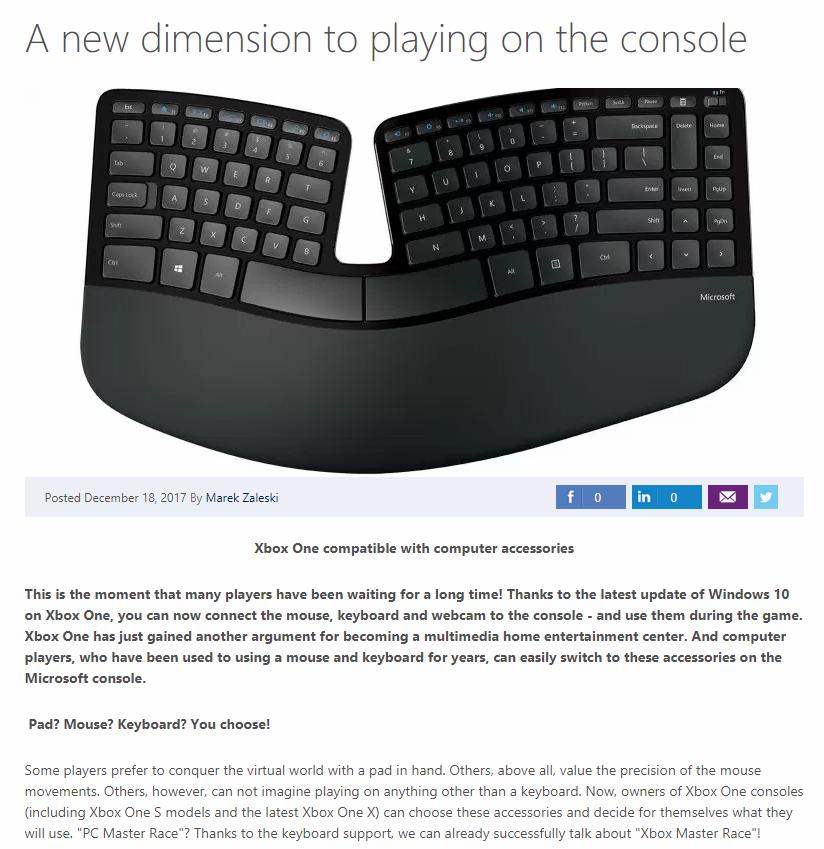 Xbox One USB-Compatibility: Microsoft Poland Leaks First