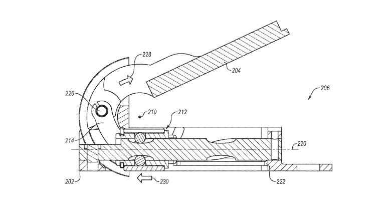 Surface hinge patent image