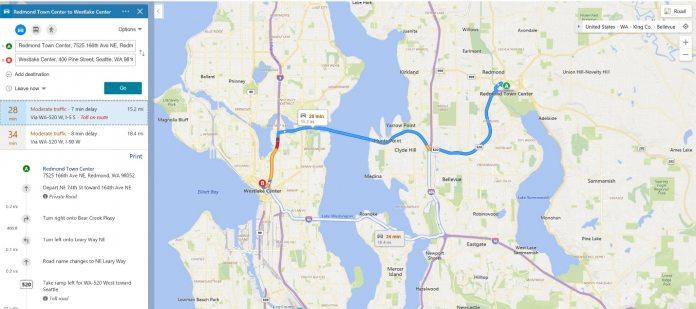 Microsoft Bing Maps Bundles Route Color Features