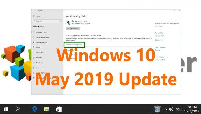 Microsoft Releases Windows 10 May 2019 Update - WinBuzzer