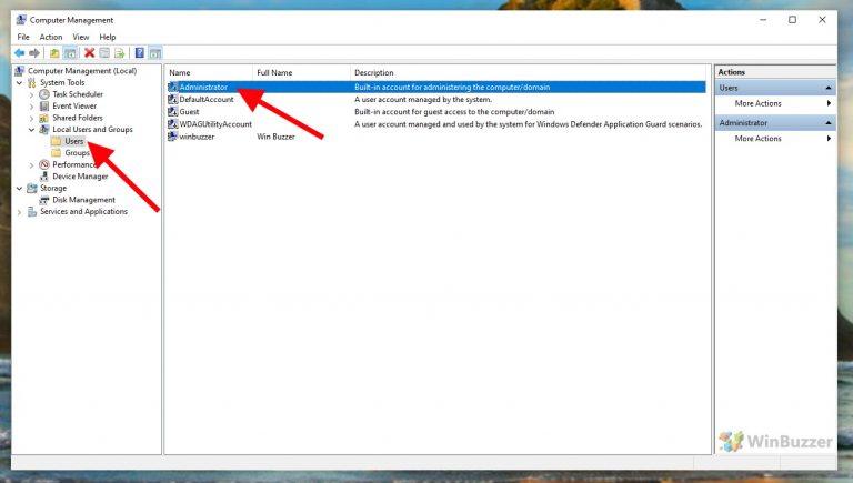 Windows 10 - Computer Management